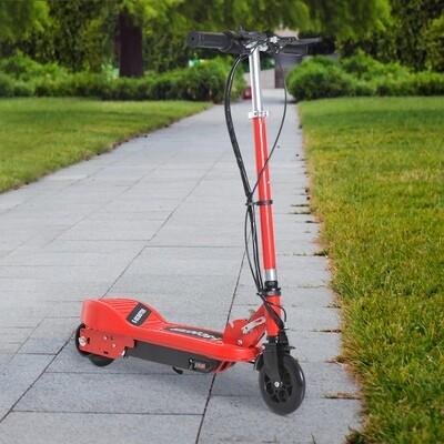 HOMCOM Elektroroller E-Scooter Cityroller klappbar Jugend Roller 12 km/h Kinder Metall Rot