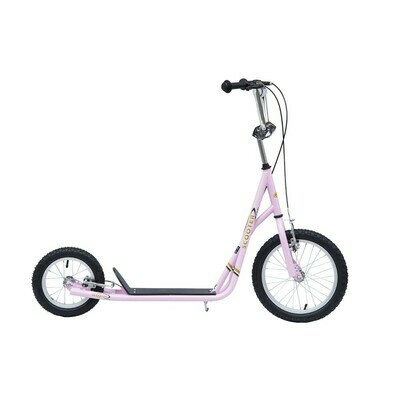 HOMCOM® City Tretroller 16/12 Zoll Scooter pink