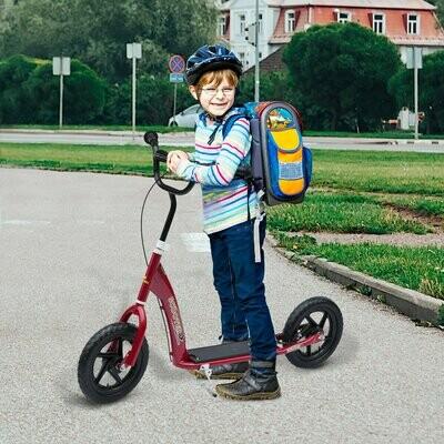 HOMCOM® Kinderroller Scooter Tretroller Cityroller Kinder Kickboard 12 Zoll Rot