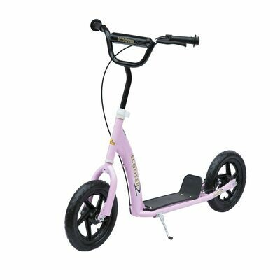 HOMCOM® Tretroller Scooter 12 Zoll Cityroller Kinder Roller Bike rosa