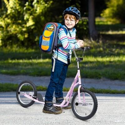 HOMCOM® Scooter Kinderroller Tretroller Cityroller 16 Zoll Rosa