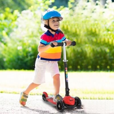 HOMCOM® Tretroller Scooter Kinderroller 3 Räder Rot