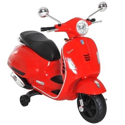 HOMCOM® Elektro Kindermotorrad VESPA Kinderauto rot