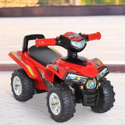 HOMCOM® Elektroauto Kindermotorrad mit Musik und Licht Rot