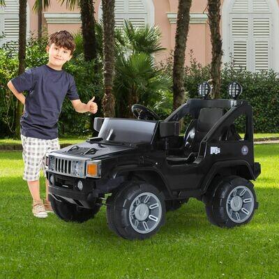 HOMCOM® Kinderauto Elektroauto Jeep mit MP3 Anschluss Kinderfahrzeug Fahrzeug Kinder Elektro Auto Spielzeug