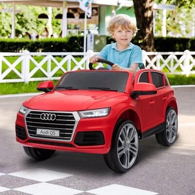HOMCOM® Kinderauto Kinderfahrzeug Elektroauto Audi Q5 mit Fernbedienung Rot