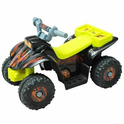 HOMCOM Elektroquad für Kinder | Elektroauto | Kunststoff | 65 x 43 x 43 cm | Gelb, Schwarz