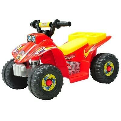 HOMCOM Elektroquad für Kinder | Elektroauto | Kunststoff | 65 x 43 x 43 cm | Gelb, rot