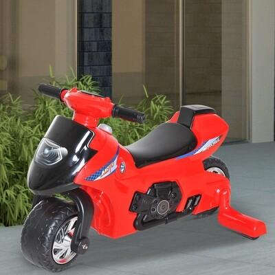 HOMCOM® Kindermotorrad Ruschauto mit Musik und Licht Rot