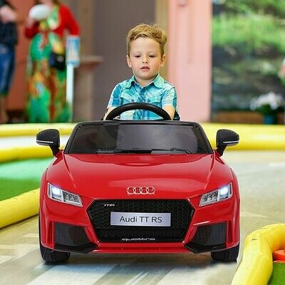 HOMCOM® Kinderfahrzeug Kinderauto Elektroauto Audi TT RS Fernbedienung MP3 3–8 Jahre PP Rot 103 x 63 x 44 cm