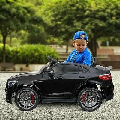 HOMCOM® Kinderfahrzeug Elektroauto Mercedes-Benz GLC Fernbedienung MP3 3–8 Jahre PP Schwarz 115 x 70 x 55 cm