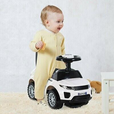 HOMCOM® Kinderfahrzeug Rutschauto Lauflernhilfe mit Hupe Stauraum PP Weiß 62 x 28 x 41,5 cm