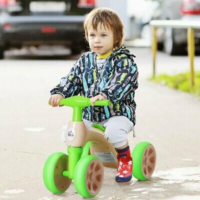 "HOMCOM® Laufrad Lauffahrrad Balance Bike 18-36 Monate ""BB"" -Klang Ruhig & Sicher PP Grün 57 x 33,5 x 42,5 cm"