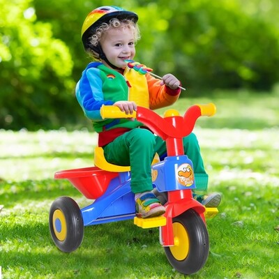 HOMCOM® Dreirad Kinderdreirad Fahrrad Lufthorn Bunt