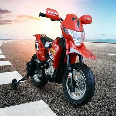 HOMCOM® Elektro-Motorrad Kinder-Motorrad für 3-8-Jährige Elektrofahrzeuge MP3 3-7 Km/h PP Rot 107 x 53 x 70 cm