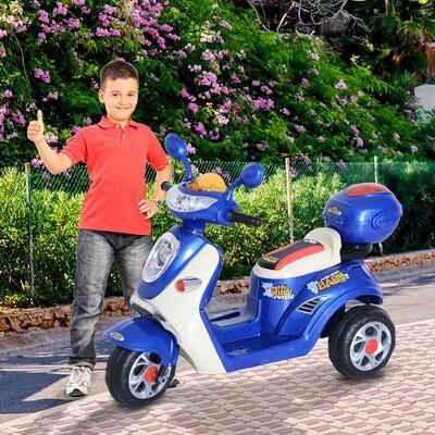 HOMCOM® Elektroroller Kinderroller Elektro Kinderfahrzeug blau