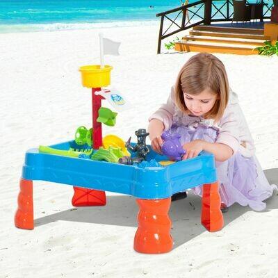 HOMCOM® Wasserspieltisch Sandspielzeug 19-tlg Zubehör