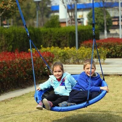 HOMCOM® Nestschaukel Kinderschaukel 100cm bis 100kg Blau