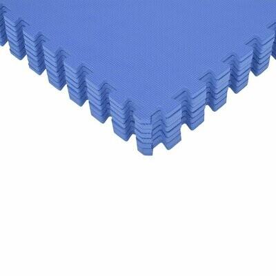HOMCOM® Puzzlematte 24 tlg. Matte Bodenmatte Turnmatte EVA (blau)