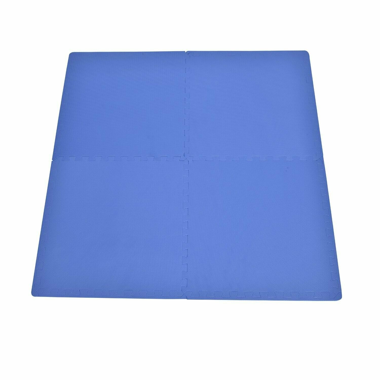 HOMCOM® 16 tlg Matte Puzzlematte Spielmatte Bodenschutzmatte Turnmatte EVA (blau)