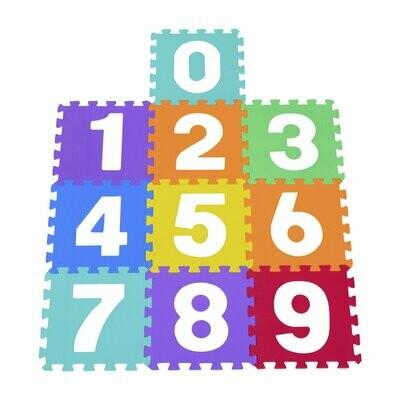 HOMCOM® 10 Stück Puzzlematte Zahlen Matte Kinder Spielmatte Kinderteppich 26-teiliges Set