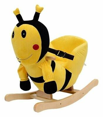 HOMCOM® Schaukelpferd Plüsch Schaukeltier Biene Lieder