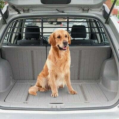 PawHut® Schutzgitter Auto Hundegitter Gepäckgitter Trenngitter verstellbar Schwarz