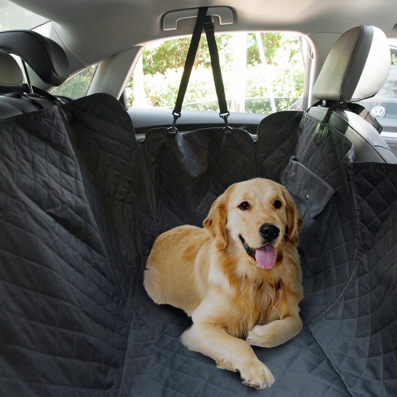 PawHut® Hundedecke Autodecke Kofferraumdecke 2 Taschen Schwarz