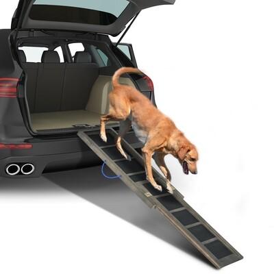 PawHut® Hunderampe Haustier Einstiegshilfe Klappbar Tannenholz 165cm