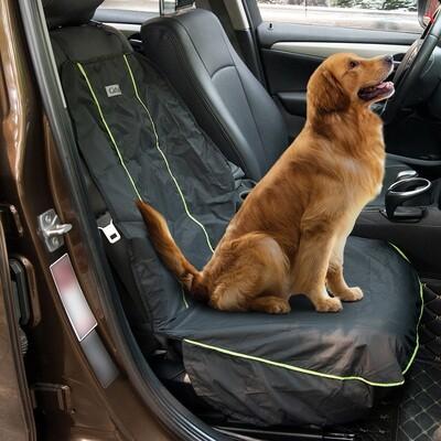 PawHut® Hundedecke Auto Vordersitzbezug Wasserdicht Schwarz L106 x B52 cm
