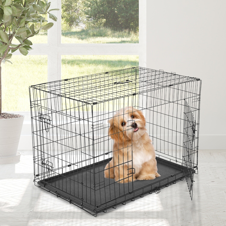 PawHut® Hunde Transportkäfig M schwarz Transportbox