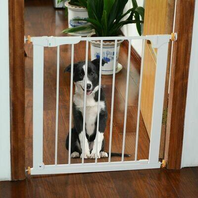 PawHut® Türschutzgitter Hundegitter Türgitter 74-95 cm
