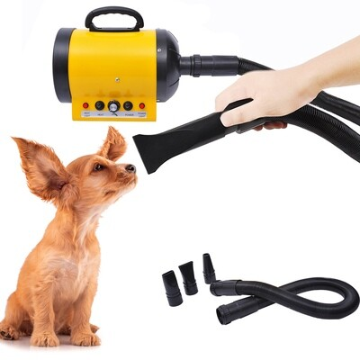 PawHut® Profi Hundefön, Tierfön: 2400W in Gelb/Schwarz