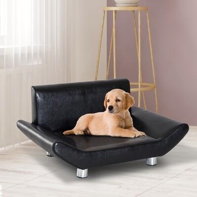 PawHut® Haustiersofa Hundematte Hundebett Haustierbett Hundecouch Schwarz