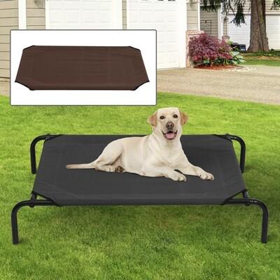 PawHut® Hundeliege Katzenbett 110x68x19cm Schlafplatz mit zwei Bezügen