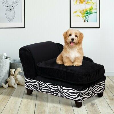 PawHut® Hundesofa Hundecouch mit Stauraum Katzen Sofa Hundebett Haustier
