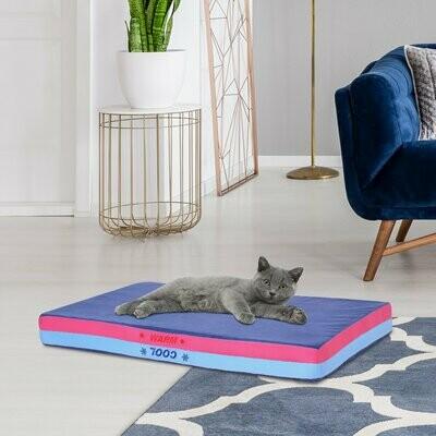 PawHut® Haustierbett | Haustierekissen | Memory Foam | 88 x 56 x 10 cm | Blau