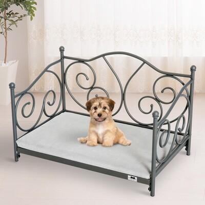 PawHut® Hundeliege Hundebett Katzenbett Haustierbett Hundesofa mit Kissen Grün