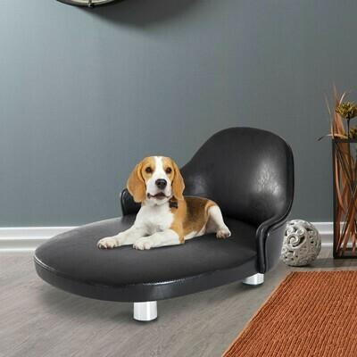PawHut® Haustiersofa Haustierbett Hundematte Hundebett Hundecouch Metallbeine Schwarz