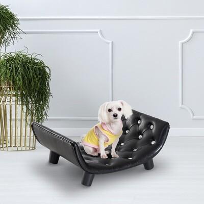 PawHut® Haustiersofa Hundematte Hundebett Hundecouch Schwarz