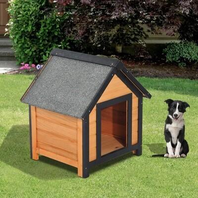 PawHut® Hundehütte Hundehaus Hundehöhle Hütte für Hunde Katzen Holz 56x60,5x66cm