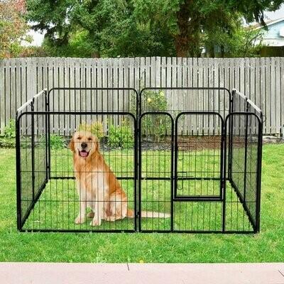 PawHut® Welpenauslauf Freilaufgehege für Kaninchen und Kleintiere 80x80 cm