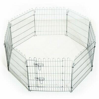 PawHut® Freilaufgehege Welpenauslauf Welpenzaun Laufstall 8-teilig Masse: 63x60cm