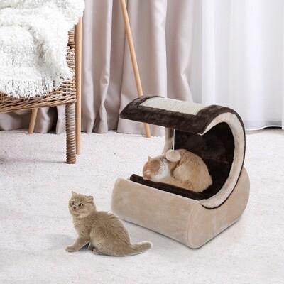 PawHut® Kratzbaum Katzenbaum Spielbaum mit Polster Schlafplatz