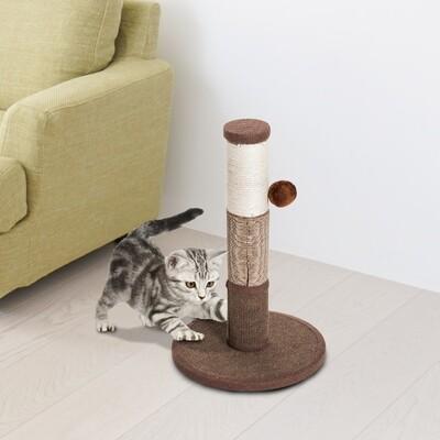 PawHut® Kratzstamm Katzenbaum Kletterbaum mit einem Ball Braun