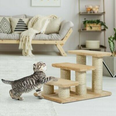 PawHut® Katzentreppe Hundetreppe Tierteppe für Katzen und Hunde 3 Stufig