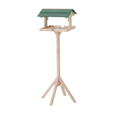 PawHut® Vogel Futterhaus mit Ständer | Vogelhaus | Kiefer | 49.5 x 49.5 x 121cm | Natur