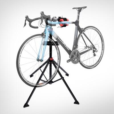 HOMCOM® Fahrradmontageständer Velo-Reparaturständer vierbeinig mit Werkzeugablage Schwarz