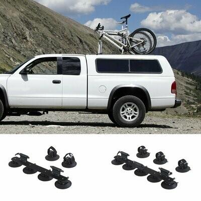 HOMCOM® Fahrrradträger Dachträger Fahrradhalter mit Schnellspanner 2 x Fahrrad Alu Schwarz L82 x B15 x H13 cm