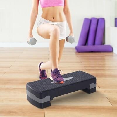 HOMCOM® Steppbrett Aerobic Fitness Stepper höhenverstellbar